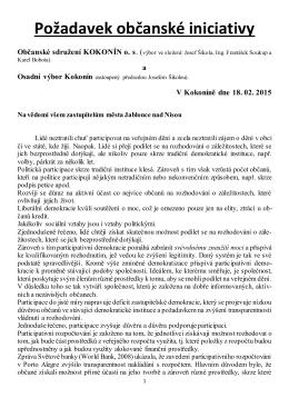 Participace - Spolek Kokonín