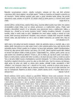 Boží zvěst a dnešní uprchlíci 6. září 2015 Řekněte nerozhodným