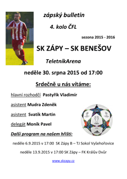 Program Benešov 2015