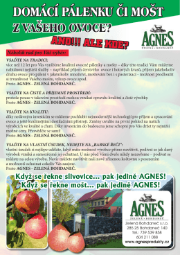 OPEN - Agnes produkty Zelená Bohdaneč