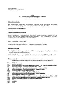 Zápis ze zasedání zastupitelstva ze dne 11.2.2015