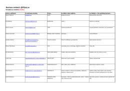 Kontakty z Business Snídaně 9.9.2015 HJ