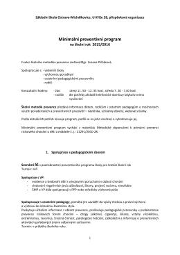 MPP 2015-2016 - Základní škola Ostrava – Michálkovice