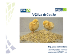 VÝŽIVA DRŮBEŽE, INTEGRA, a.s., Lundová Z., 6/2015