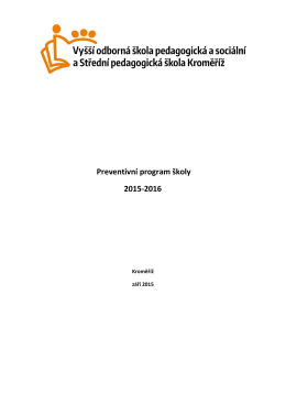 Preventivní program školy 2015-2016