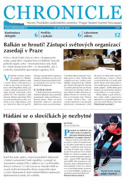 Noviny Chronicle - Asociace pro mezinárodní otázky