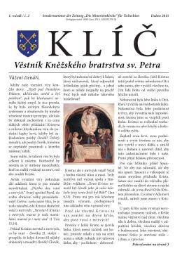 Věstník Kněžského bratrstva sv. Petra