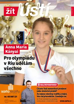 Anna Maria Kányai Pro olympiádu v Riu udělám všechno