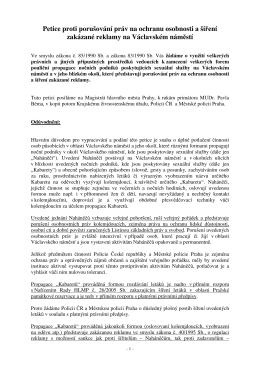Petice proti porušování práv na ochranu osobnosti a šíření