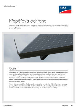 Přepěťová ochrana - Ochrana proti atmosférickému přepětí a