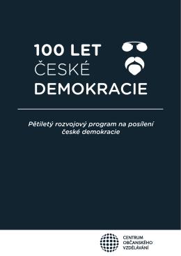 100 let české demokracie - Centrum Občanského Vzdělávání