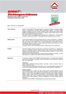 strana 95 ze 196 Minerální izolaţní stČrka k izolaci proti vodČ tlaţící