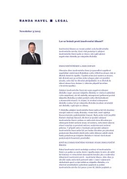 Newsletter 3/2015 Lze se bránit proti insolvenční šikaně?