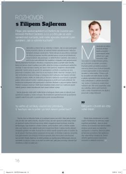 Rozhovor s Filipem Sajlerem