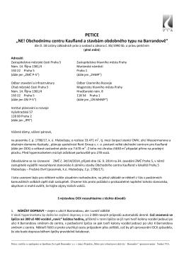 Petice proti Kauflandu (plné znění)