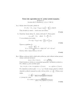 Kategorie C 1.a) Kdyby koule byla pln , platilo by: F = F G