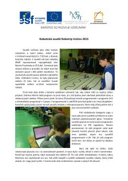 Robotická soutěž Robotrip Uničov 2015