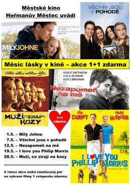 Měsíc lásky v kině – akce 1+1 zdarma