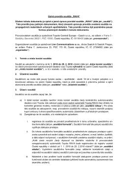 """Úplná pravidla soutěže """"RAV4"""" Účelem tohoto dokumentu"""