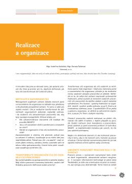 Realizace a organizace