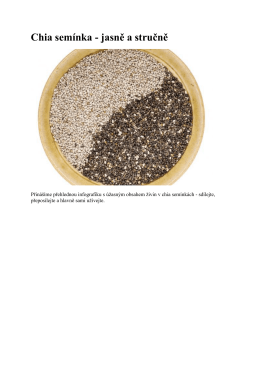 Chia semínka - jasně a stručně