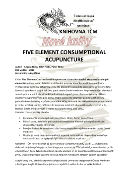 five element consumptional acupuncture