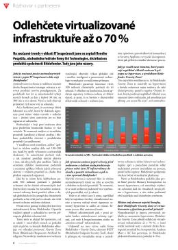 Odlehčete virtualizované infrastruktuře až o 70 %