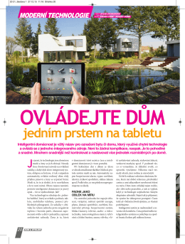 Ovládejte dům jedním prstem na tabletu