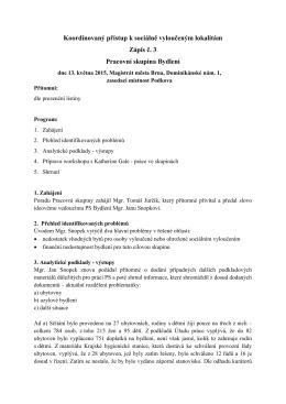 Zápis ze dne 13.5.2015 - portál sociální péče ve městě Brně