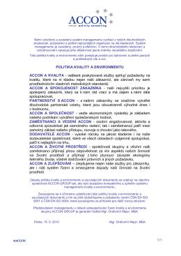 IM-02 Politika kvality a environmentu