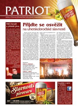 Přijďte se osvěžit - Pivovar Uherský Brod