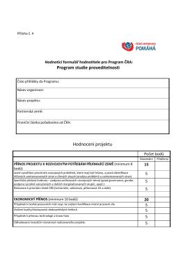 Hodnotící formulář