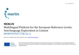 MERLIN Multilingual Platform for the European Reference Levels