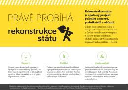 PRÁVĚ PROBÍHÁ - Rekonstrukce státu