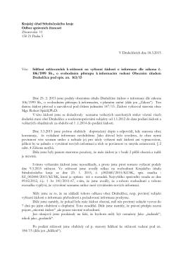 Krajský úřad Středočeského kraje Odbor správních činností