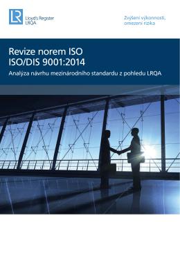 Analýza ISO/DIS 9001:2014 z pohledu LRQA 0.96MB Návrh