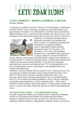 1.cena mohács – rodina schreel z belgie