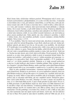 Žalm 35 - Sweb.cz