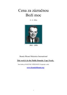 A. A. Allen – Cena za zázračnou Boží moc(PDF-386 kb)