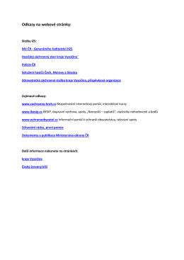 Odkazy na webové stránky IZS