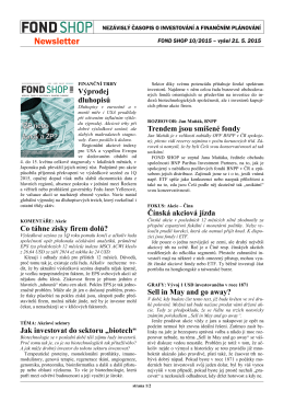 Newsletter FOND SHOP 10-2015