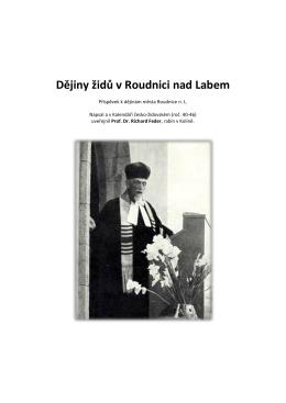 Dějiny Židů v Roudnici nad Labem (rabín Feder)