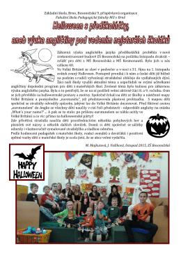 Halloween s předškoláčky aneb výuka angličtiny