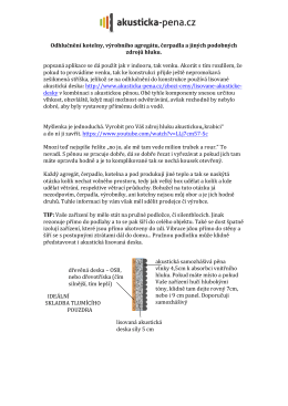 Odhlučnění kotelny, výrobního agregátu, čerpadla a jiných