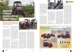 Japonské traktory sklidily v Bílém Podolí úspěch