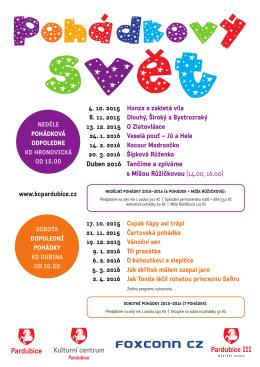pohádkové předplatné - program 2015-2016