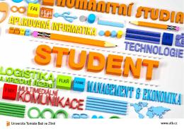 Brožura STUDENT - Univerzita Tomáše Bati ve Zlíně