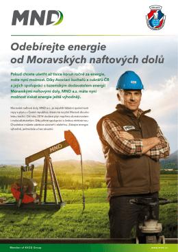 MND - odebírejte energie od Moravských naftových dolů