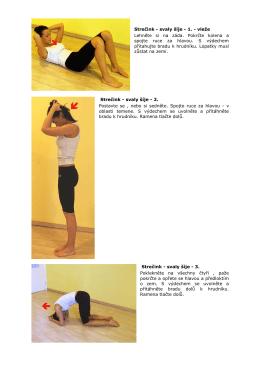 Strečink - svaly šíje - 1. - vleže Lehněte si na záda. Pokrčte kolena a
