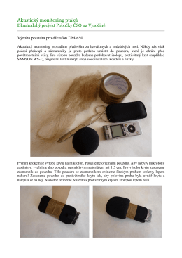 Akustický monitoring ptáků - Doma-Net